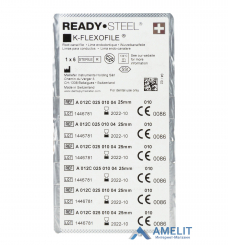 К-Флексофайл READYSTEEL (K-Flexofile READYSTEEL, Dentsply Sirona), 6шт./уп.