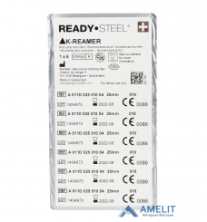K-Ример READYSTEEL №15...45 (K - Reamer READYSTEEL, Dentsply Maillefer), 6шт./уп.