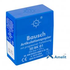 Артикуляционная бумага BK-01, 200 мкм, синяя, 300 листов (Bausch), 1 уп.