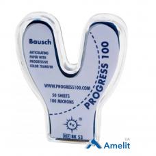 Артикуляционная бумагаВК-53 Progress, 100 мкм, синяя, 50 дуг (Bausch), 1 уп.