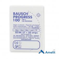 Артикуляционная бумага ВК-57 Progress, 100 мкм, синяя, 50 полосок (Bausch), 1 уп.