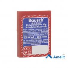 Артикуляционная бумага ВК-63 Arti-Check, 40 мкм, красно-синяя, 200 полосок (Bausch), 1 уп.