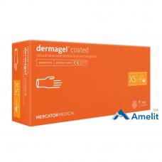 Перчатки латексные DermaGEL, бежевые, размер «XS» (Mercator Medical), 50 пар/упак.