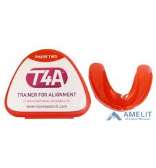 Трейнер ортодонтический T4А (Trainer T4A), жесткий, красный, для взрослых, 1шт.
