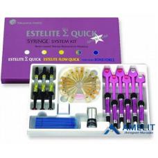 Эстелайт Сигма Квик (Estelite Sigma Quick, Tokuyama Dental), набор 9 шприцов по 3,8г + 1,8г + аксессуары
